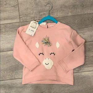 Zara unicorn sweater